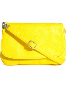 Noleta Small Cross Body Bag - predominant colour: yellow; occasions: casual; style: messenger; length: across body/long; size: mini; material: faux leather; pattern: plain; finish: plain