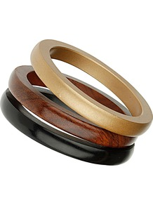 Multi Coloured Wooden Bangle - occasions: casual, occasion, holiday; predominant colour: multicoloured; style: bangle; size: small; finish: plain; material: wood