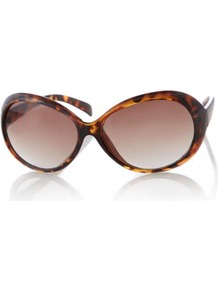 Tortoise Shell Oversized Sunglasses Conker - predominant colour: chocolate brown; secondary colour: tan; occasions: casual, evening, work, occasion, holiday; style: round; size: large; material: plastic/rubber; pattern: tortoiseshell; finish: plain
