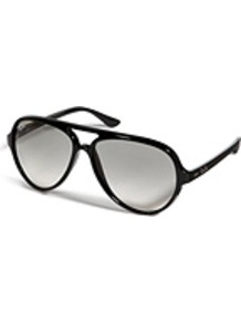 Cats5000 Gradient Sunglasses - predominant colour: black; occasions: casual, holiday; style: aviator; size: large; material: plastic/rubber; pattern: plain; finish: plain