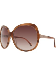 Mks294 Aviator Sunglasses - secondary colour: chocolate brown; predominant colour: tan; occasions: casual, evening, work, occasion, holiday; style: round; size: large; material: plastic/rubber; pattern: tortoiseshell; finish: plain