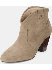 Lucian Ankle Boots, Tan - predominant colour: stone; occasions: casual, evening; material: suede; heel height: mid; heel: block; toe: pointed toe; boot length: ankle boot; style: cowboy; finish: plain; pattern: plain