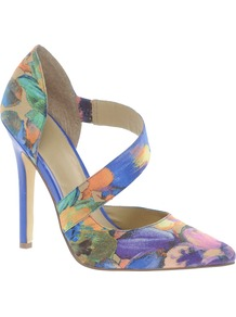 Ponder Pointed High Heels - occasions: evening, work, occasion; predominant colour: multicoloured; material: fabric; heel: stiletto; toe: pointed toe; style: courts; trends: statement prints; finish: plain; pattern: patterned/print; heel height: very high
