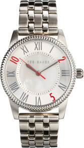 Ten To Two Silver Watch - predominant colour: silver; occasions: casual, work; style: boyfriend; size: standard; material: chain/metal; finish: metallic; pattern: plain