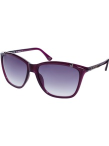Beth Sunglasses - predominant colour: aubergine; occasions: casual, holiday; style: d frame; size: large; material: plastic/rubber; pattern: plain; finish: plain