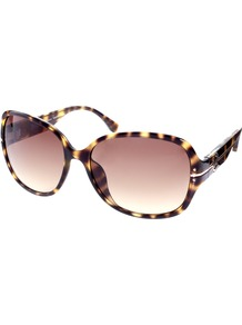 Mackenzie Sunglasses - predominant colour: chocolate brown; secondary colour: camel; occasions: casual, holiday; style: square; size: large; material: plastic/rubber; pattern: tortoiseshell; finish: plain