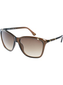 Beth Sunglasses - predominant colour: chocolate brown; occasions: casual, holiday; style: d frame; size: large; material: plastic/rubber; pattern: plain; finish: plain