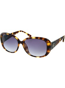 Norwich Sunglasses - secondary colour: mustard; predominant colour: chocolate brown; occasions: casual, holiday; style: square; size: standard; material: plastic/rubber; pattern: tortoiseshell; finish: plain