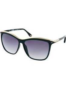 Ariana Sunglasses - predominant colour: black; occasions: casual, holiday; style: d frame; size: large; material: plastic/rubber; pattern: plain; finish: plain