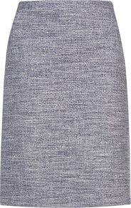 Spring Boucle Pencil Skirt - pattern: plain; style: pencil; fit: tailored/fitted; waist: mid/regular rise; predominant colour: navy; occasions: casual, evening, work; length: just above the knee; fibres: cotton - mix; pattern type: fabric; texture group: other - light to midweight