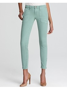 Jeans Harlan Patch Zip In Moss - style: skinny leg; pattern: plain; pocket detail: large back pockets, pockets at the sides; waist: mid/regular rise; predominant colour: pistachio; occasions: casual, evening, holiday; length: ankle length; fibres: cotton - stretch; texture group: denim; pattern type: fabric