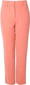 Apricot Relaxed Fit Crepe Trousers - pattern: plain; waist: mid/regular rise; predominant colour: pink; occasions: evening, occasion; length: ankle length; fibres: polyester/polyamide - 100%; texture group: crepes; fit: straight leg; pattern type: fabric; style: standard