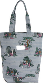 Pure Morning Tote Bag - predominant colour: mid grey; occasions: casual; type of pattern: standard; style: tote; length: handle; size: standard; material: fabric; finish: plain; pattern: patterned/print