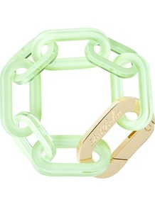 Ted Baker Jaxon Chain Link Bracelet - predominant colour: pistachio; secondary colour: gold; occasions: casual, evening, holiday; style: chain; size: large/oversized; material: chain/metal; finish: plain; embellishment: chain/metal
