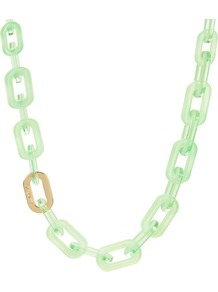 Ted Baker Jacey Chain Necklace - predominant colour: pistachio; secondary colour: gold; occasions: casual, evening, holiday; style: standard; length: long; size: large/oversized; material: chain/metal; finish: plain; embellishment: chain/metal