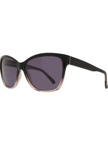 Tb1291 Dielizia Rectangular Sunglasses - secondary colour: blush; predominant colour: black; occasions: casual, holiday; style: square; size: standard; material: plastic/rubber; finish: plain; pattern: colourblock