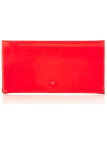 Ghost Clutch Bag - predominant colour: coral; occasions: casual, evening; style: clutch; length: hand carry; size: small; material: plastic/rubber; pattern: plain; trends: fluorescent; finish: fluorescent