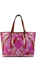 Printed Pvc Tote - secondary colour: burgundy; predominant colour: magenta; occasions: casual, work, holiday; type of pattern: heavy; style: tote; length: shoulder (tucks under arm); size: oversized; material: plastic/rubber; trends: statement prints; finish: plain; pattern: patterned/print