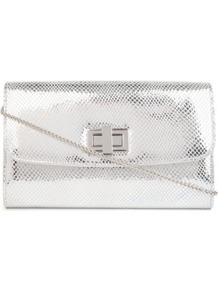 Beebee Metallic Clutch - predominant colour: silver; occasions: evening, occasion; type of pattern: standard; style: clutch; length: hand carry; size: mini; material: faux leather; pattern: plain; trends: metallics; finish: metallic