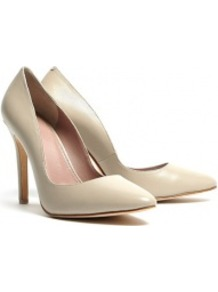 Sesame Leather Court Shoes - predominant colour: ivory; occasions: evening, work, occasion, holiday; material: leather; heel height: high; heel: stiletto; toe: pointed toe; style: courts; finish: plain; pattern: plain