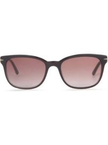 Contrast Coloured Oval Frame Sunglasses - predominant colour: black; occasions: casual, holiday; style: d frame; size: standard; material: plastic/rubber; pattern: plain; finish: plain
