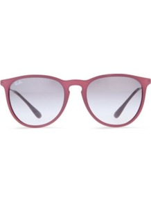 Erika Sunglasses - occasions: casual, holiday; style: round; size: standard; material: plastic/rubber; pattern: plain; finish: plain; predominant colour: dusky pink
