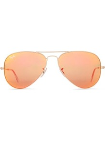 Aviator Sunglasses - secondary colour: coral; predominant colour: nude; occasions: casual, holiday; style: aviator; size: standard; material: chain/metal; pattern: plain; trends: metallics; finish: metallic