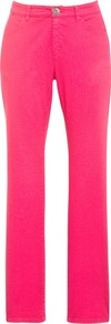 Coloured Slim Leg Jeans, Fuchsia - length: standard; pattern: plain; pocket detail: traditional 5 pocket; style: slim leg; waist: mid/regular rise; predominant colour: hot pink; occasions: casual, evening, holiday; fibres: cotton - stretch; texture group: denim; pattern type: fabric
