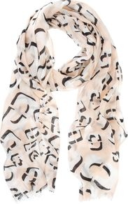 Maddie Print Scarf, Multi Coloured - predominant colour: blush; secondary colour: black; occasions: casual, evening, work, holiday; type of pattern: heavy; style: regular; size: standard; material: fabric; trends: statement prints; pattern: patterned/print