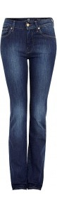 Medium Indigo High Rise Straight Leg Jeans - length: standard; pattern: plain; pocket detail: traditional 5 pocket; waist: mid/regular rise; predominant colour: indigo; occasions: casual; fibres: cotton - stretch; texture group: denim; fit: skinny/tight leg; pattern type: fabric; style: standard