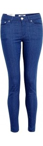 Soul Sling Skinny Jeans - style: skinny leg; pattern: plain; waist: low rise; pocket detail: traditional 5 pocket; predominant colour: royal blue; occasions: casual; length: ankle length; fibres: cotton - stretch; texture group: denim; pattern type: fabric