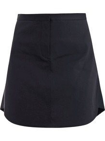 Bonded Cotton Flirt Skirt - length: mid thigh; pattern: plain; fit: loose/voluminous; waist: mid/regular rise; predominant colour: black; occasions: casual, evening, work; style: a-line; fibres: cotton - stretch; texture group: cotton feel fabrics; pattern type: fabric