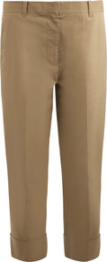 Dickie Chino Trousers - length: standard; pattern: plain; waist: mid/regular rise; predominant colour: stone; occasions: casual; style: chino; fibres: cotton - stretch; texture group: lycra/elastane mixes; fit: straight leg; pattern type: fabric