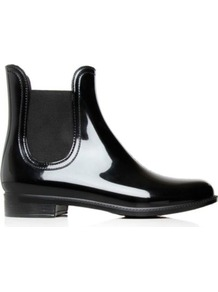 Southbank Jelly Chelsea Boots - predominant colour: black; occasions: casual; material: plastic/rubber; heel height: flat; embellishment: elasticated; heel: standard; toe: round toe; boot length: ankle boot; style: standard; finish: patent; pattern: plain