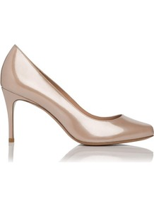 Alice Patent Leather Point Toe Court Shoe Pink Blush - predominant colour: blush; occasions: evening, work, occasion; material: leather; heel height: high; heel: stiletto; toe: round toe; style: courts; finish: patent; pattern: plain