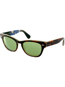 Havana Laramie Small Frame Sunglasses - predominant colour: chocolate brown; occasions: casual, holiday; style: d frame; size: standard; material: plastic/rubber; pattern: tortoiseshell; finish: plain