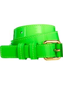 Cheap & Chic Fluro Belt - predominant colour: lime; occasions: casual, evening, holiday; style: classic; size: standard; worn on: waist; material: leather; pattern: plain; trends: fluorescent; finish: plain