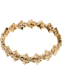 Bug Stretch Bracelet - predominant colour: gold; occasions: casual, evening, work, occasion, holiday; style: bangle; size: standard; material: chain/metal; trends: metallics; finish: metallic