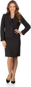 Black Pin Spot Jacket - pattern: plain; style: single breasted blazer; collar: standard lapel/rever collar; predominant colour: black; occasions: evening, work; length: standard; fit: tailored/fitted; fibres: polyester/polyamide - mix; sleeve length: long sleeve; sleeve style: standard; collar break: medium; pattern type: fabric; texture group: other - light to midweight