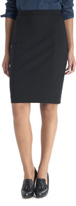 Smooth Stretch Pencil Skirt - pattern: plain; style: pencil; fit: tight; waist: high rise; predominant colour: black; occasions: evening, work; length: on the knee; fibres: cotton - stretch; texture group: jersey - clingy; pattern type: fabric