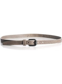 Skinny Printed Leather Belt - predominant colour: taupe; occasions: casual, work; style: classic; size: skinny; worn on: waist; material: leather; pattern: plain; finish: plain