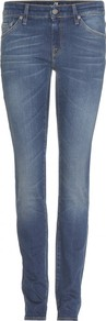Cristen Classic Skinny Jeans - length: standard; pattern: plain; pocket detail: traditional 5 pocket; style: slim leg; waist: mid/regular rise; predominant colour: denim; occasions: casual; fibres: cotton - stretch; jeans detail: whiskering, shading down centre of thigh; texture group: denim; pattern type: fabric