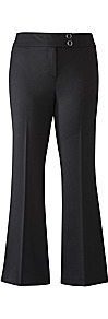 Climate Control Bootcut Trousers - length: standard; pattern: plain; waist: mid/regular rise; predominant colour: black; occasions: work; fibres: polyester/polyamide - stretch; texture group: crepes; fit: bootcut; pattern type: fabric; pattern size: standard; style: standard