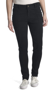 Stretch Twill Trousers - length: standard; pattern: plain; waist: mid/regular rise; predominant colour: black; occasions: casual; fibres: viscose/rayon - stretch; fit: skinny/tight leg; pattern type: fabric; texture group: woven light midweight; style: standard