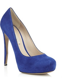 Trickster Suede Pump - predominant colour: royal blue; occasions: evening, occasion; material: suede; heel: stiletto; toe: round toe; style: courts; finish: plain; pattern: plain; heel height: very high