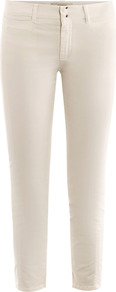 Kate Trousers - pattern: plain; style: capri; waist: mid/regular rise; predominant colour: ivory; occasions: casual; length: calf length; fibres: cotton - stretch; texture group: cotton feel fabrics; fit: skinny/tight leg; pattern type: fabric