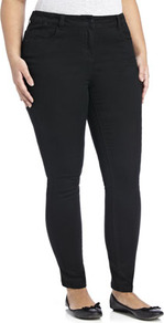 True Supersoft Skinny Jeans - style: skinny leg; pattern: plain; pocket detail: traditional 5 pocket; waist: mid/regular rise; predominant colour: black; occasions: casual, evening, work, holiday; length: ankle length; fibres: cotton - stretch; jeans detail: dark wash; texture group: denim; pattern type: fabric
