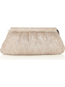 Metallic Snap Clutch Bag - predominant colour: silver; occasions: evening, occasion, holiday; style: clutch; length: hand carry; size: small; material: faux leather; pattern: plain; trends: metallics; finish: metallic