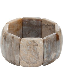 Ambrosia Plain Edge Expanding Bracelet - predominant colour: stone; occasions: casual, work, occasion, holiday; style: cuff; size: standard; finish: plain