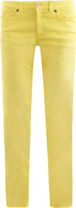 Madre Mid Rise Skinny Jeans - style: skinny leg; length: standard; pattern: plain; pocket detail: traditional 5 pocket; waist: mid/regular rise; predominant colour: yellow; occasions: casual, evening, holiday; fibres: cotton - stretch; texture group: denim; pattern type: fabric